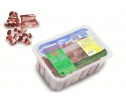 Semi-finished products, meat beef chilled,small-pieced